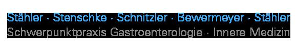 Gastroenterologie Köln West: Dr. med. Stähler / Stenschke / Schnitzler / Bewermeyer Logo